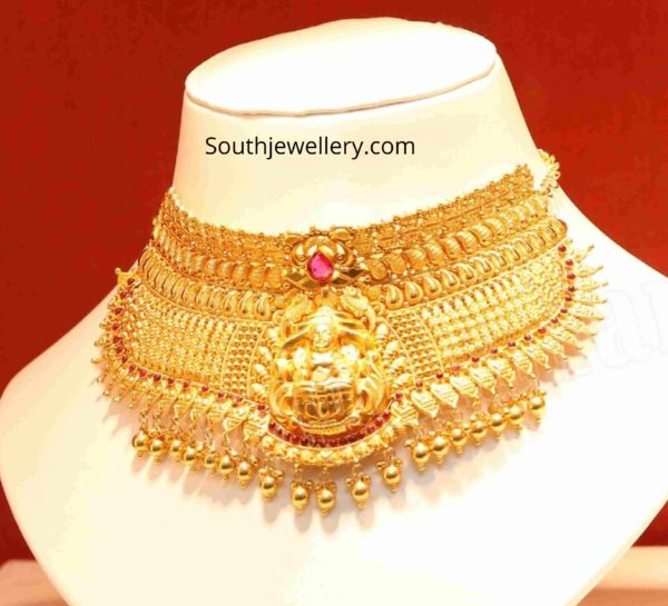 traditional 22 k gold choker designs (4)