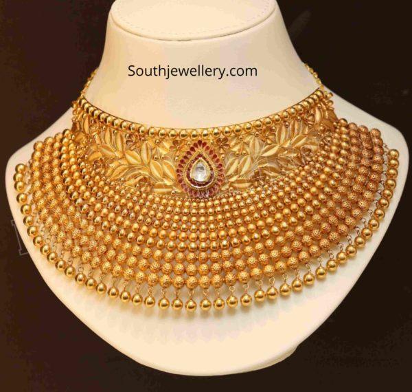 traditional 22 k gold choker designs (1)