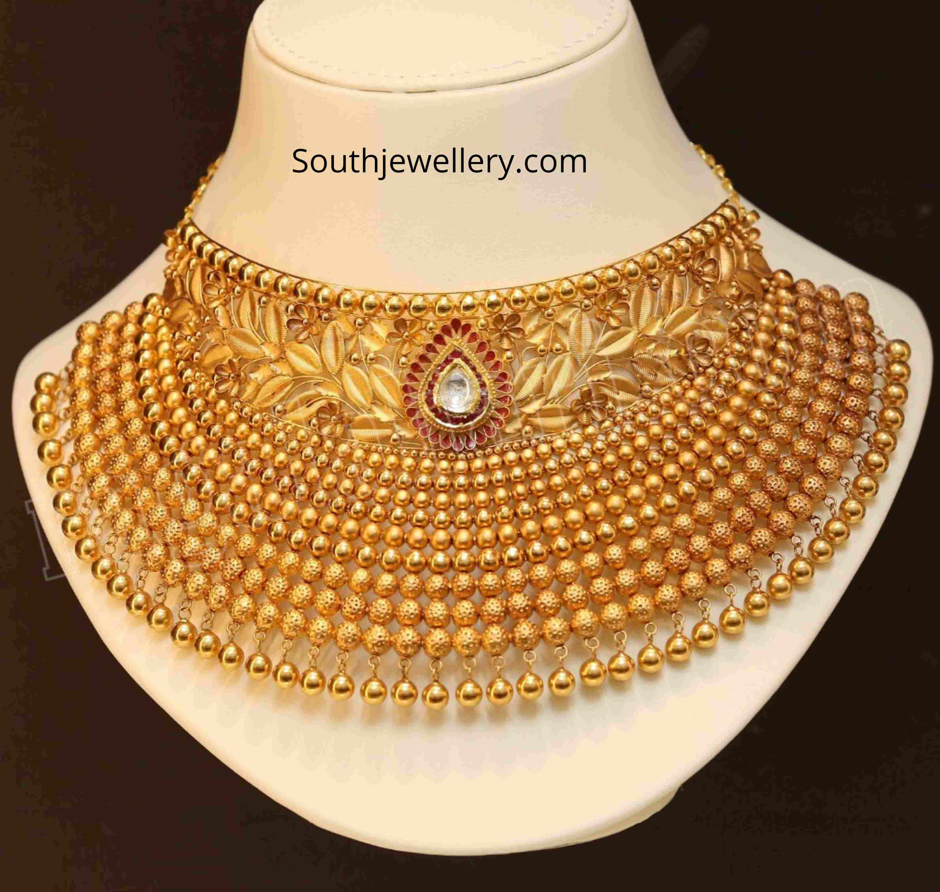 traditional gold chokers collection by joyalukkas