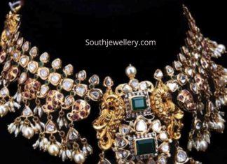 antique gold polki guttapusalu necklace