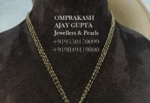 black diamond mangalsutra with pendant (1)