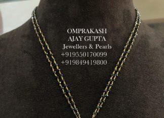 black diamond mangalsutra with pendant (2)