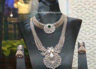 bridal diamond jewellery set by tanishq