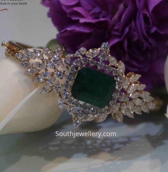 diamond emerald bracelet