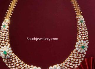 diamond necklace floral design