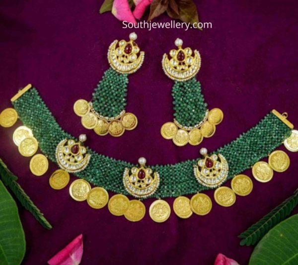 emerald kasu necklace