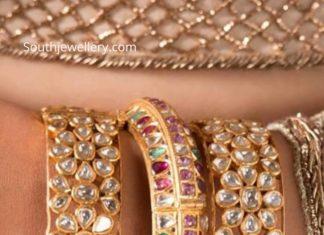kundan work bangles 22k gold