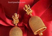 lakshmi gold jhumkas