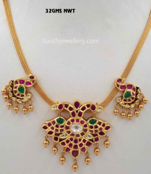 light weight kundan necklace