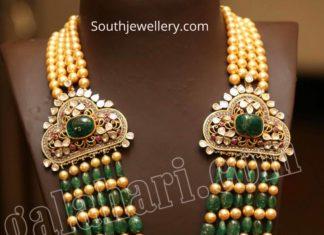 multi strand emerald beads haram by mangatrai