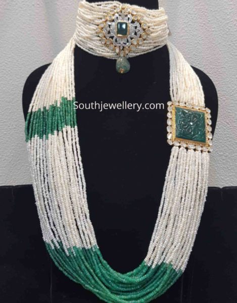 multi string pearl necklace