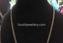 nallapusalu chain with sankhu chakra pendant
