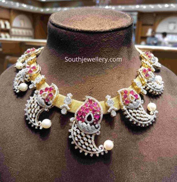 new design diamond necklace