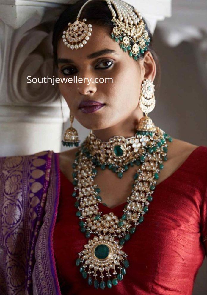 polki diamond jewellery set