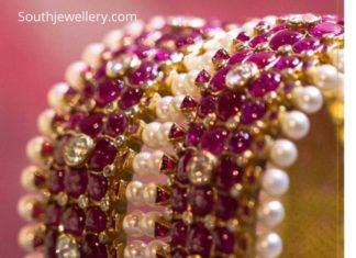 ruby bangles 22 k gold
