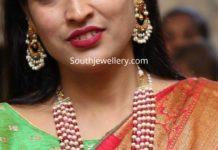 ruby beads and south sea pearl mala