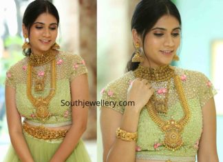 sandhya thota in antique gold jewellery by sri krishna jewellers (1)