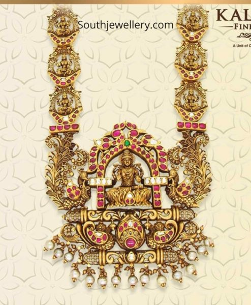 Latest temple jewellery necklace collection by Kalasha Fine jewels