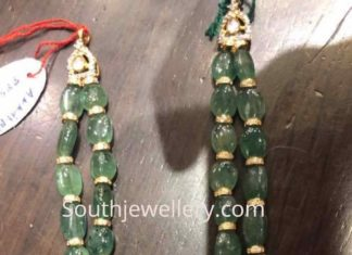 thick emerald beads necklace