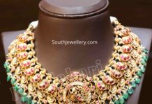 traditional peacock nakshi necklace