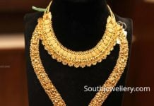 22k gold nakshi haram and necklace by manepally