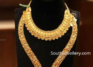 22k gold nakshi haram and necklace by manepally