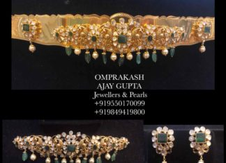 4 in 1 vaddanam choker bajuband jewellery