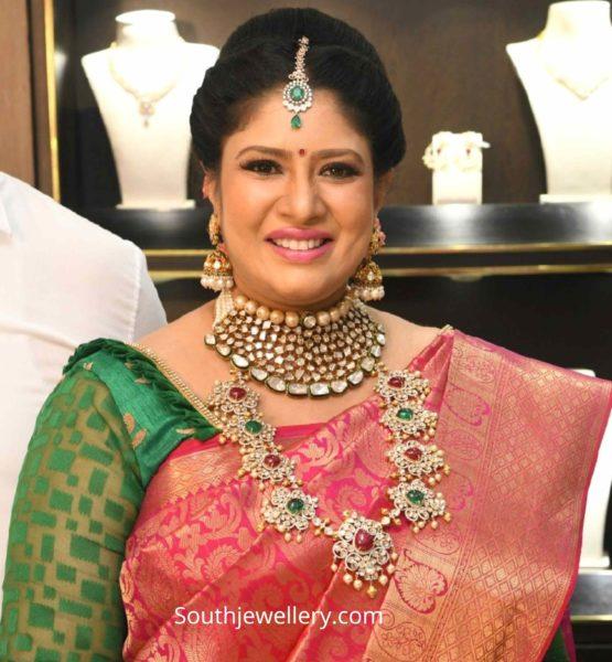 actress sanghavi polki jewellery by tbz