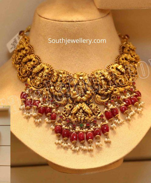 antique gold lakshmi nekclace