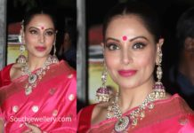 bipasha basu polki necklace set diwlai party 2019