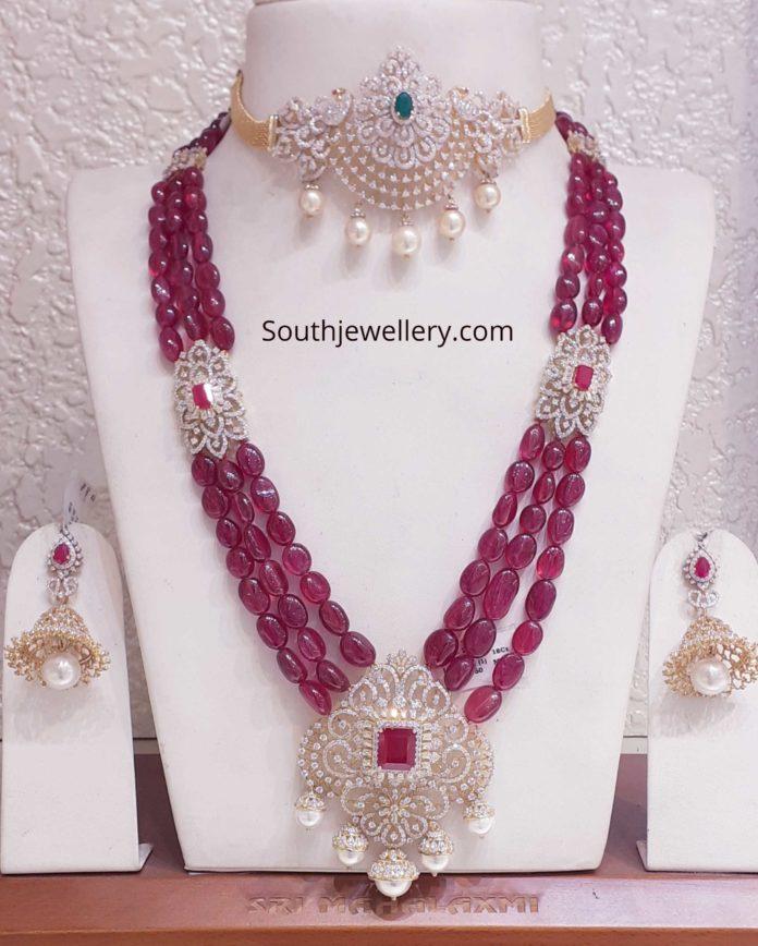 diamond finish swarovski stones haram set