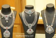 diamond necklace and haram collection 2019 (1)