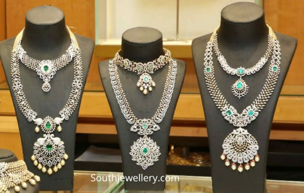diamond necklace and haram collection 2019 (2)