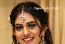 diamond ruby jewellery set manepally (1)