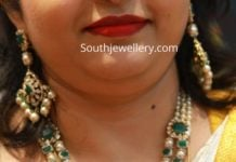 emerald south sea pearl necklace set