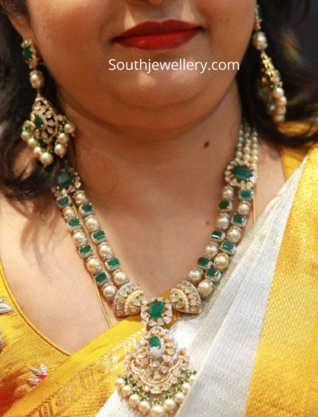 emerald south sea pearl necklace set
