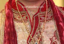 gold balls chain with diamond pendant tanishq