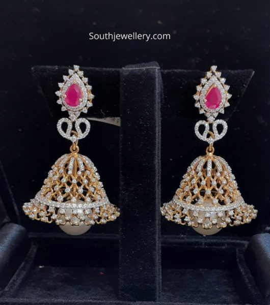 imitation diamond jhumkas