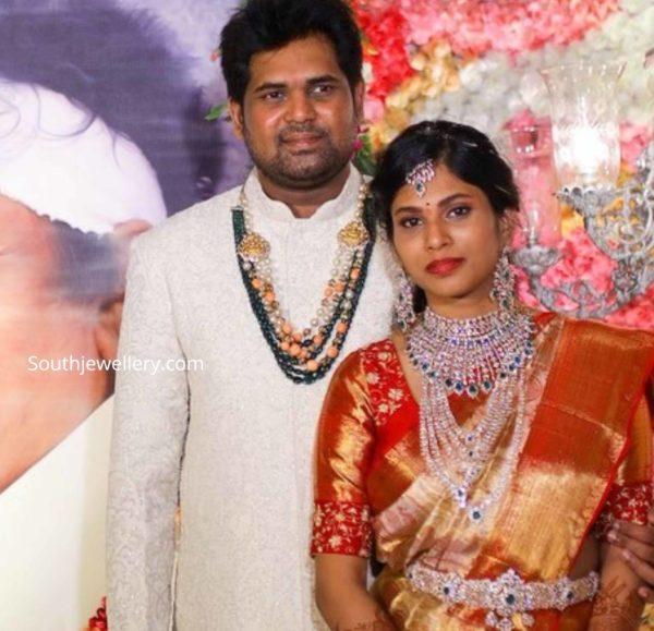 kodi ramakrishna daughter wedding jewellery