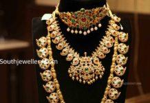 kundan polki necklace haram designs by manepally