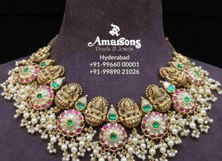 lakshmi kundan guttapusalu necklace