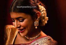 lakshmi manchu polki diamond necklace set