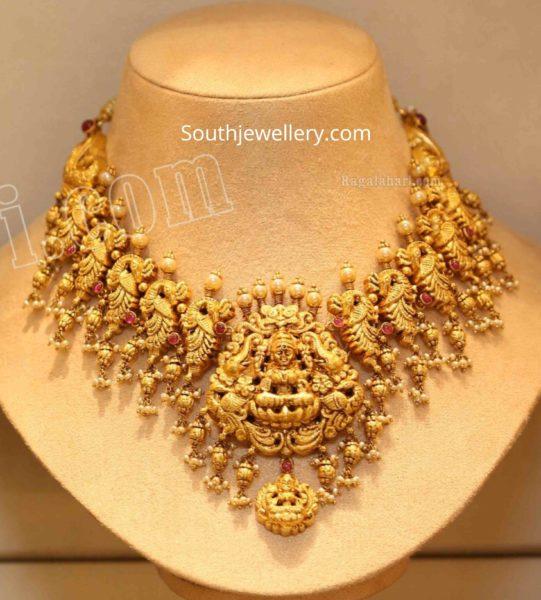 lakshmi peacock necklace