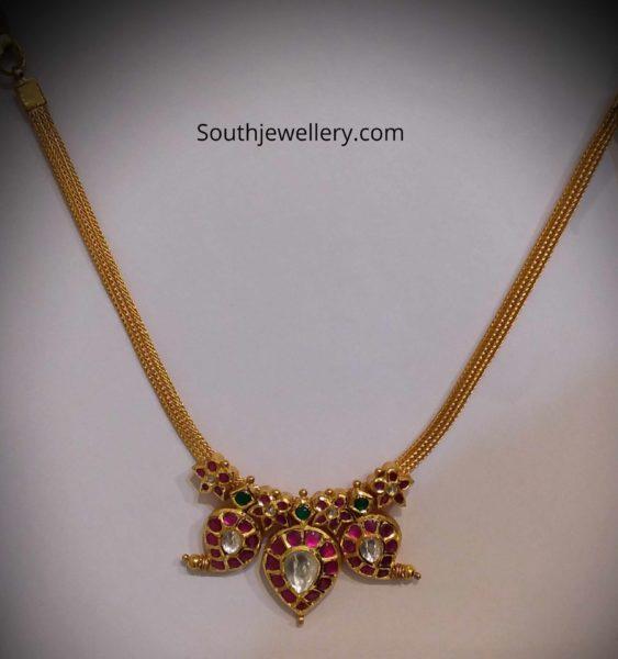 light weight kundan necklace 22k gold (5)