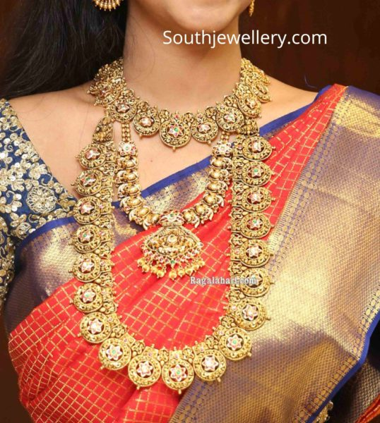 manepally traditional gold necklace collection