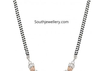 mangalsutra chain with diamond pendant