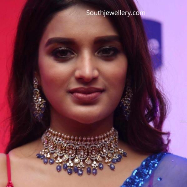 nidhhi agerwal polki diamond choker (2)