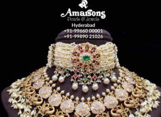 peacock polki diamond necklace