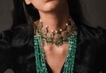 polki choker and emerald mala