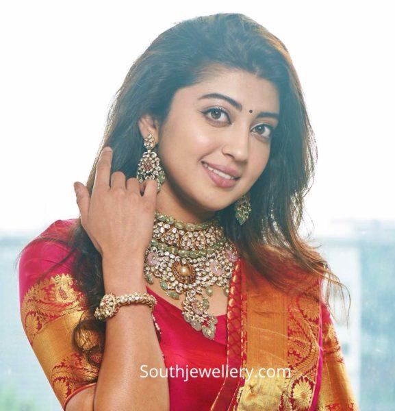 pranitha subhash polki necklace by kalasha fine jewels